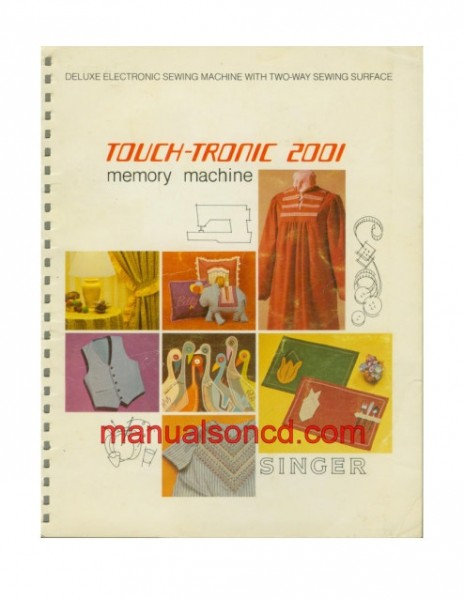 Singer 2001 Touch-Tronic Sewing Machine Instruction/Owners Manual