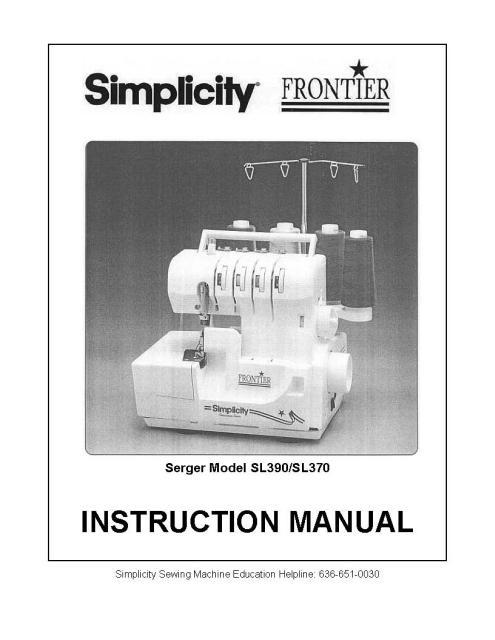 simplicity sewing machine manual