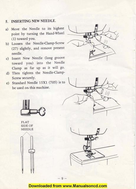 white sewing machine manuals