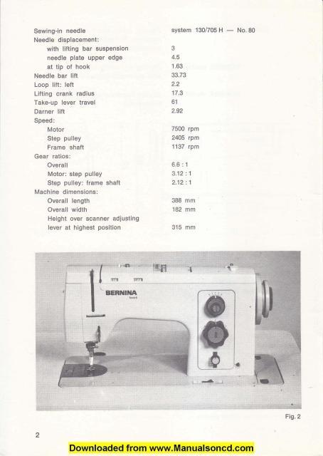 Bernina 840 841 842 Sewing Machine Adjusters Manual