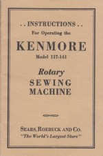 Kenmore 117.141 Rotary Sewing Machine Instruction Manual
