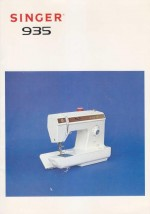 Singer 935 Sewing Machine Instruction Manual