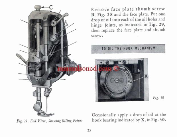 singer sewing machine 221 manual