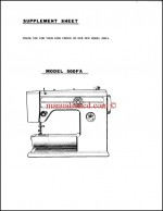 RICCAR Super Automatic Model 500FA Sewing Machine Instruction Manual