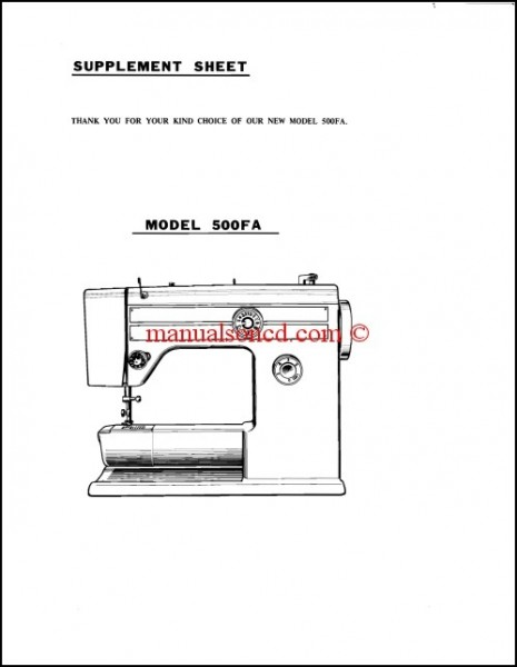 riccar sewing machine manual