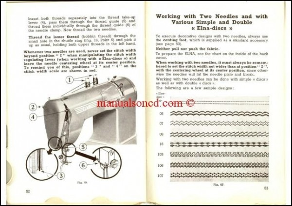 Elna Supermatic 2 Sewing Machine Instruction/Owners Manual Pdf