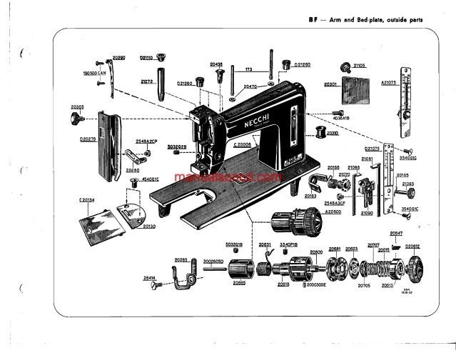 necchi sewing machine parts diagrams  necchi  free engine