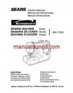 Kenmore 385.17324 Sewing Machine Instruction Manual