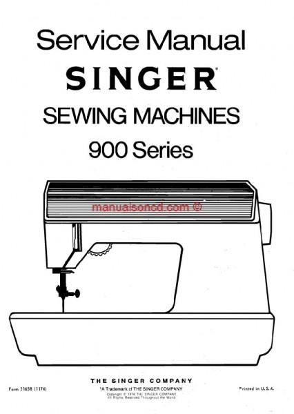 singer 900 series sewing machine service manual