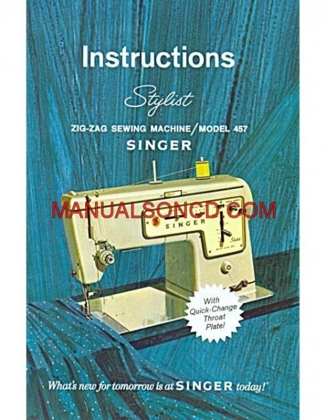 Singer 457 Stylist Instruction And Owners Manual Download
