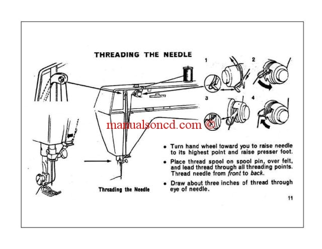 Singer Genie Model 353 354 Sewing Machine Instruction Manual