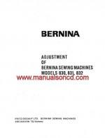 Bernina 830, 831 and 832 Adjusters Service Manual pdf