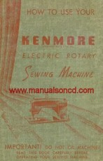 Kenmore Rotary Sewing Machine Manual 126781