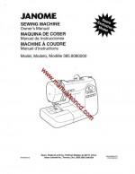 Janome Sears 8080 Sewing Machine Instruction Manual 385.8080