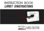 Janome MS3015 - MS3023 Sewing Machine Instruction Manual