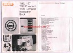 PFAFF 1196, 1197, 1199 COMPACT 1209 COMPACT INSTRUCTION MANUAL