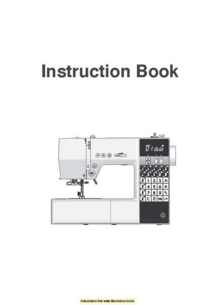 Necchi EX100 Sewing Machine Instruction Manual