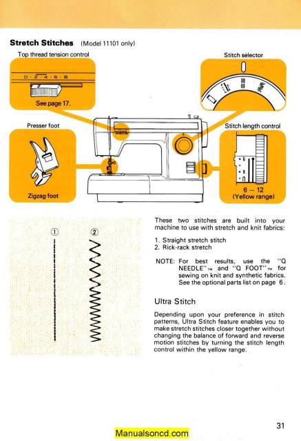 Janome 3434d Serger Sewing Machine Instruction Manual