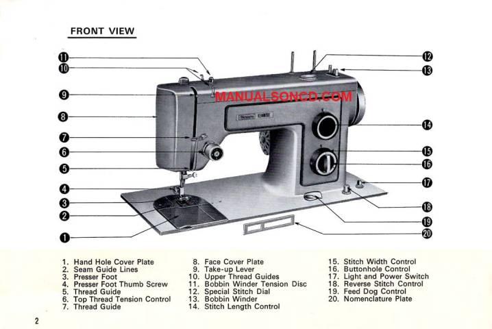 Kenmore 158.1317 - 158.13170 Sewing Machine Manual