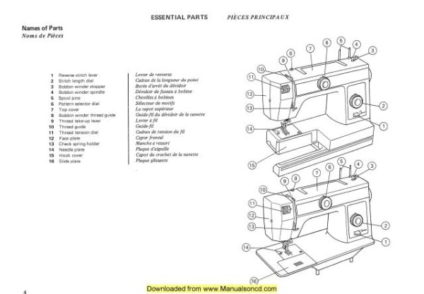 Janome 105-106 Sewing Machine Instruction Manual