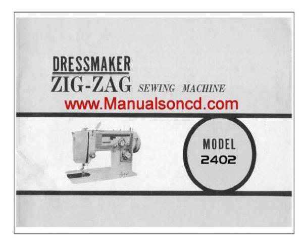 Dressmaker 2402 Sewing Machine Instruction Manual