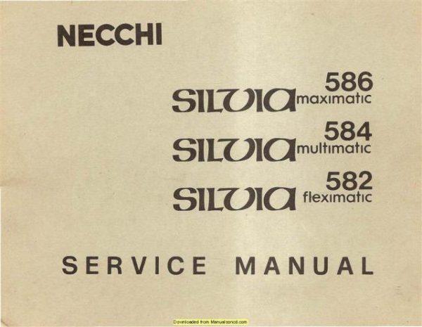 Necchi Silvia 582 - 584 - 586 Sewing Machine Service Manual