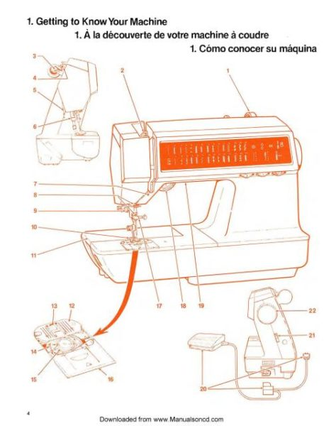 Singer 2010 Touch Tronic Sewing Machine Instruction Manual