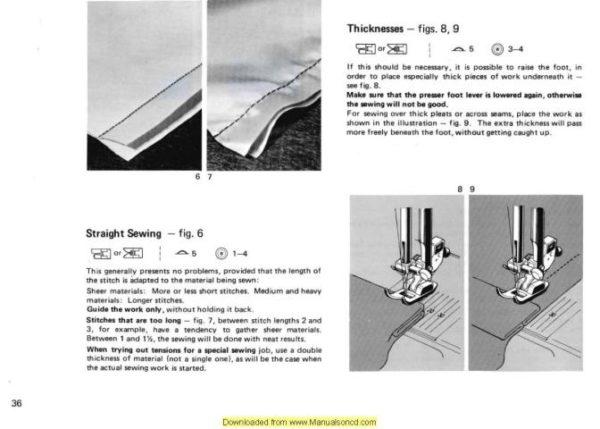 Elna 410 Sewing Machine Instruction Manual
