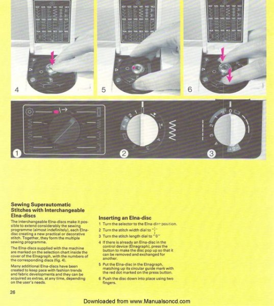 Elna Carina Electronic SU Sewing Machine Manual