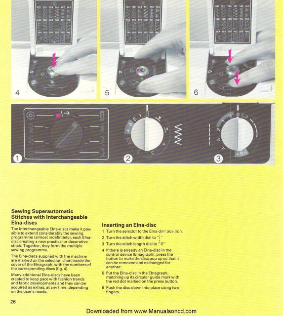 Elna Carina Electronic SU Sewing Machine Manual Simple Elna Carina Sewing Machine