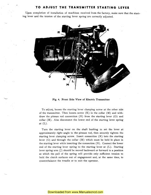 Singer Industrial Sewing Machine Instruction Manual