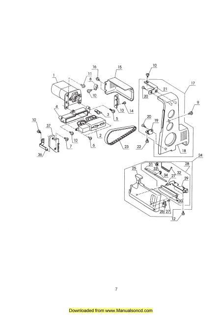 Janome 134D Sewing Machine Service Manual Plus Parts on