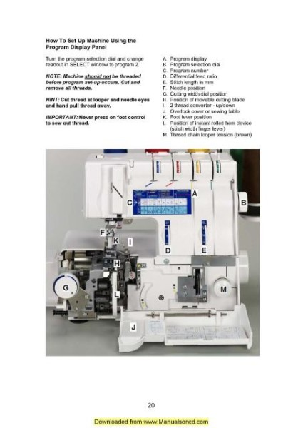 Elna 745 Serger Sewing Machine Instruction Manual