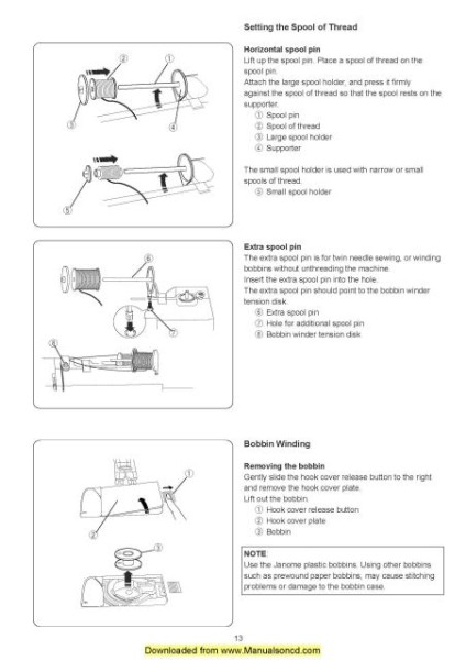 Necchi EX30 Sewing Machine Instruction Manual