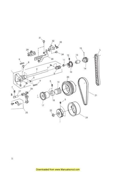 Janome 5124 Sewing Machine Service Manual