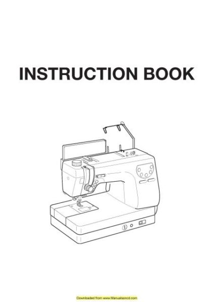 Necchi QS60 Sewing Machine Instruction Manual