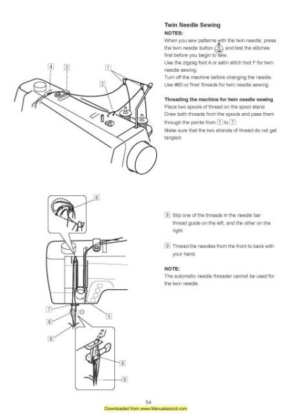 Necchi QS60 Sewing Machine Instruction Manual