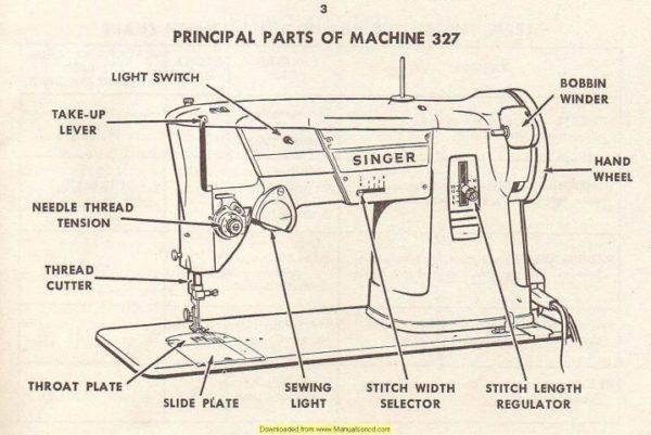 Singer 327 Sewing Machine Instruction Manual