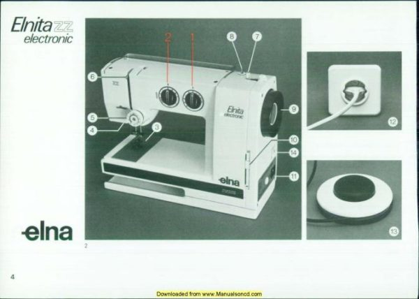 Elna Elnita Electronic ZZ Sewing Machine Manual
