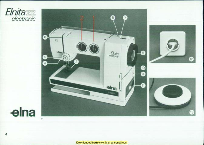 Elna Elnita Electronic ZZ Sewing Machine Manual Enchanting How To Thread A Elna Sewing Machine