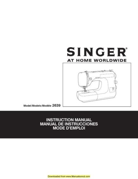 Singer 327 Sewing Machine Instruction Manual
