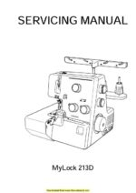 Janome 213d Sewing Machine Service Manual