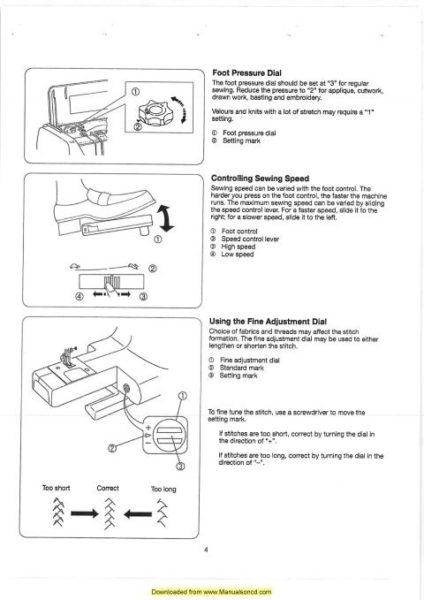 Elna 6003 Sewing Machine Manual