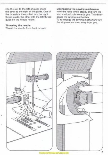 Pfaff 1067-1069-1047 Tiptronic Sewing Machine Instruction Manual