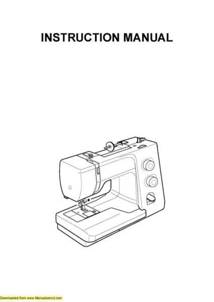 Janome 7318 Sewing Machine Instruction Manual