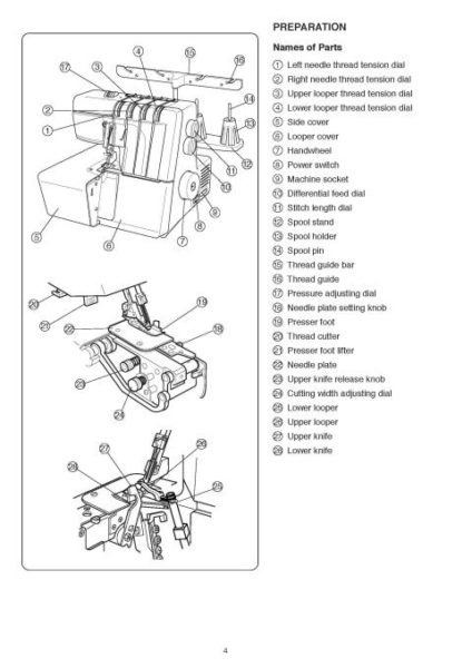 Elna 664 Sewing Machine Instruction Manual