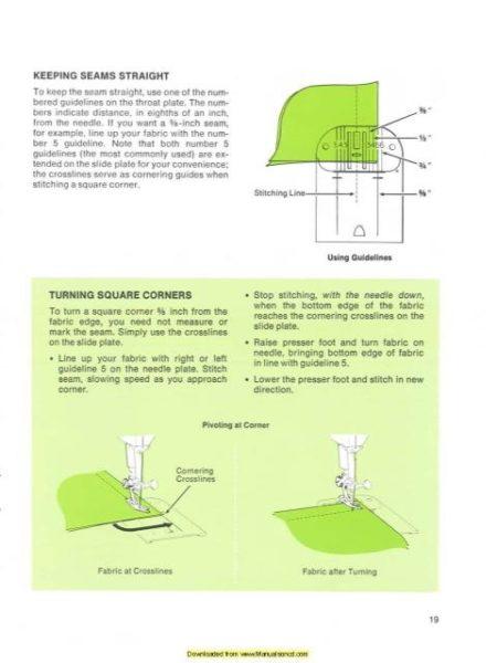 Singer 774 - 734 Sewing Machine Instruction Manual