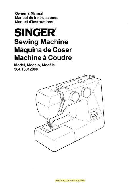 Kenmore 38413012000 Sewing Machine Instruction Manual