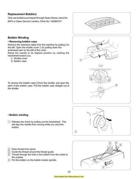 Kenmore 384.13012000 Sewing Machine Instruction Manual