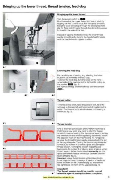 Bernina 1630 Inspiration Plus Sewing Machine Instruction Manual